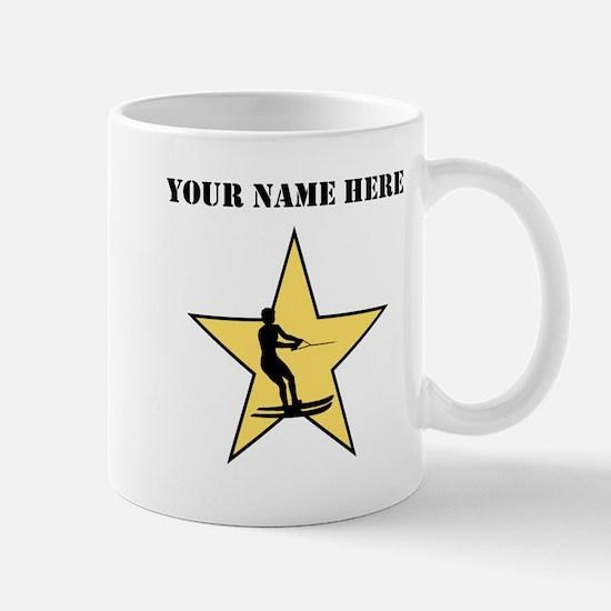 Waterskiing Star (Custom) Mugs