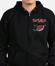 North Style Zipped Hoodie