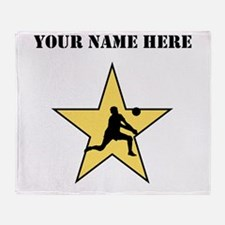 Volleyball Star (Custom) Throw Blanket