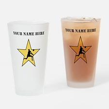 Volleyball Star (Custom) Drinking Glass