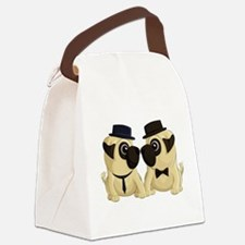 Groom Pugs Canvas Lunch Bag