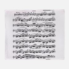 Flute Solo Throw Blanket