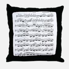 Flute Solo Throw Pillow