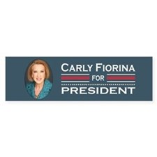 Carly Fiorina Bumper Car Sticker