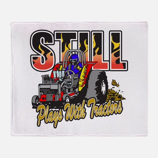 Tractor Pull Still Plays with Tracto Throw Blanket