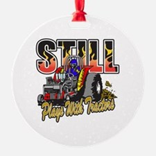 Tractor Pull Still Plays with Tract Ornament