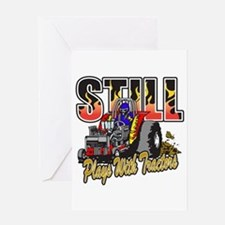 Tractor Pull Still Plays with Tracto Greeting Card