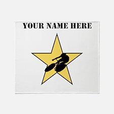 Cycling Star (Custom) Throw Blanket