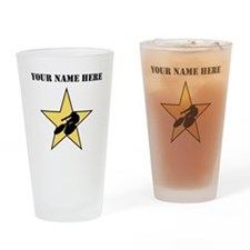 Cycling Star (Custom) Drinking Glass