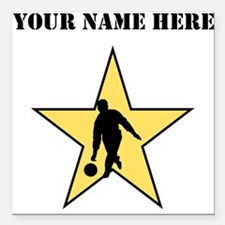 "Bowling Star (Custom) Square Car Magnet 3"" x 3"""