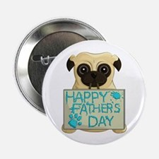"Father's Day Pug 2.25"" Button (10 Pack)"