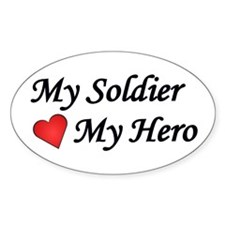 My Soldier My Hero US Army Oval Decal
