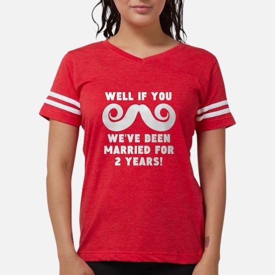 2nd Wedding Anniversary Mustache T-Shirt
