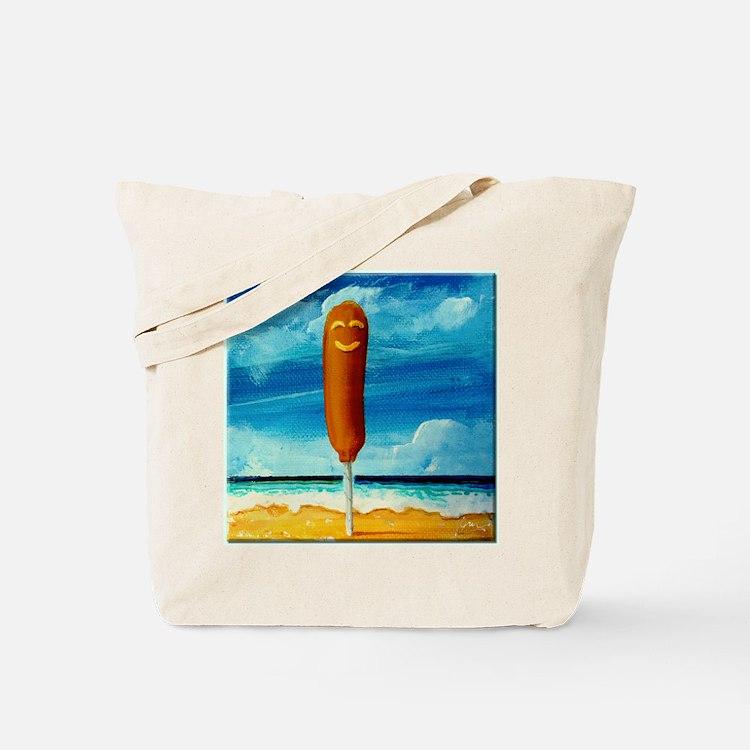 Corn Dog At The Beach Tote Bag