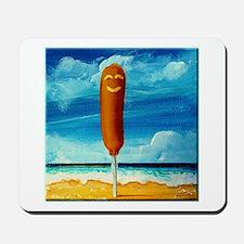 Corn Dog At The Beach Mousepad