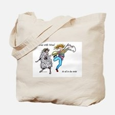Dances With Wool / color Tote Bag