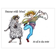 Dances With Wool / color Poster
