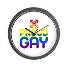 Proud Gay (colored) Wall Clock