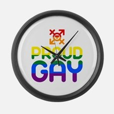 Proud Gay (colored) Large Wall Clock