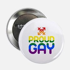 """Proud Gay (colored) 2.25"""" Button"""
