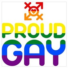 Proud Gay (colored) Framed Print