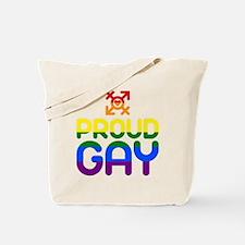Proud Gay (colored) Tote Bag