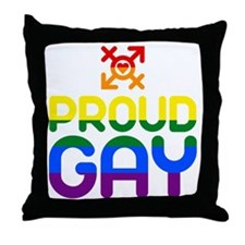Proud Gay (colored) Throw Pillow