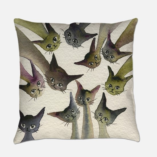 Kessells Stray Cats Everyday Pillow