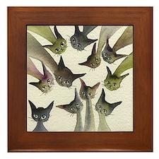 Kessells Stray Cats Framed Tile