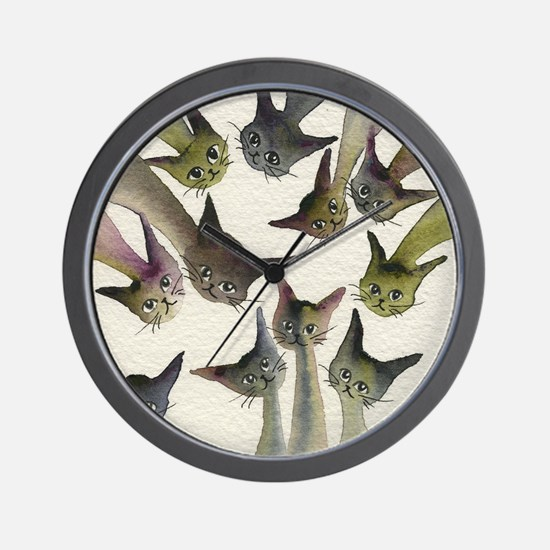 Kessells Stray Cats Wall Clock