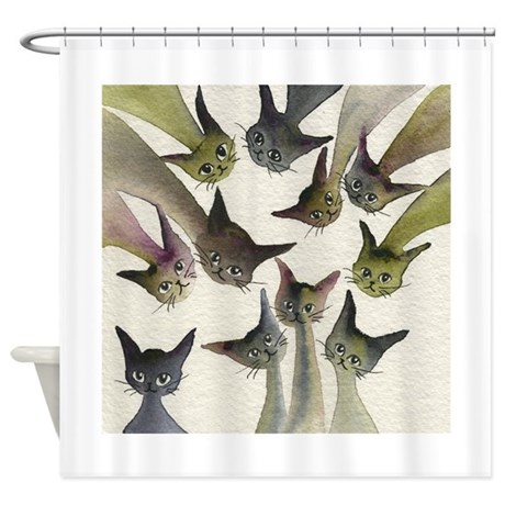 Kessells Stray Cats Shower Curtain By Blackcatart