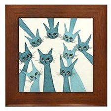Lucca Stray Cats Framed Tile