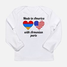 Made In America With Armenian Parts Long Sleeve T-