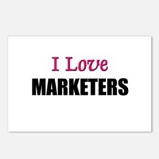 I Love MARKETERS Postcards (Package of 8)