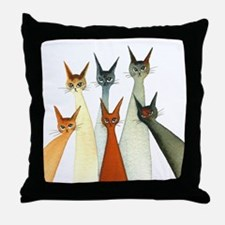 Seville Stray Cats Throw Pillow