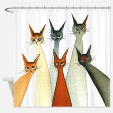 Seville Stray Cats Shower Curtain