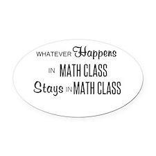 Math Class Oval Car Magnet