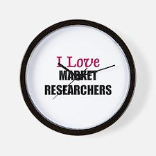 I Love MARKET RESEARCHERS Wall Clock