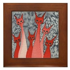 Oklahoma Stray Cats Framed Tile