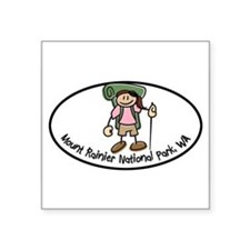 "Cute I hike Square Sticker 3"" x 3"""
