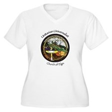 Stained Glass Chalice Plus Size T-Shirt