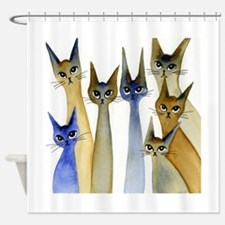 Sutter Stray Cats Shower Curtain