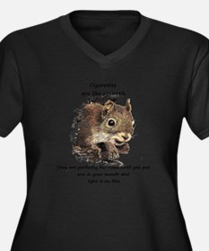 Funny Quit Smoking Squirrel Quote Plus Size T-Shir