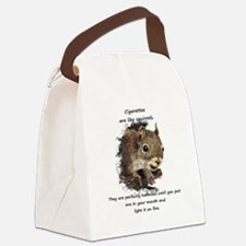 Funny Quit Smoking Squirrel Quote Canvas Lunch Bag