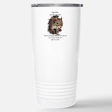 Funny Quit Smoking Squirrel Quote Travel Mug