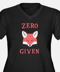 Zero (Fox) G Women's Plus Size V-Neck Dark T-Shirt