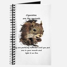 Funny Quit Smoking Squirrel Quote Journal