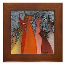 Casablanca Stray Cats Framed Tile