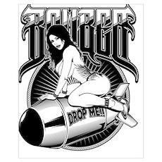 Bomber Pin-Up Girl Poster