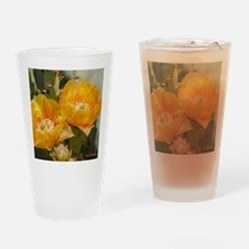 Yellow Prickly Pear Blooms Drinking Glass